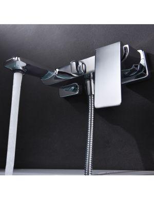 Robinet de bain / douche en laiton chromé serie fiyi