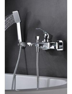 Robinetterie de bain/douche en laiton chromé serie bali