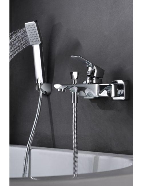 grifo de bañera / ducha monomando cromado serie bali