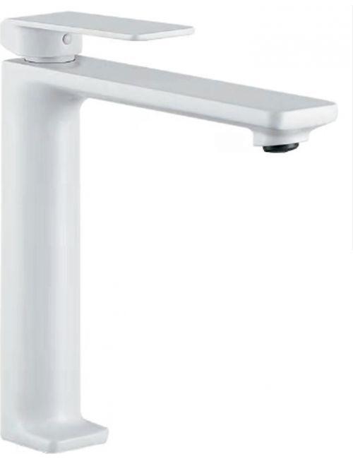 Grifo lavabo pica blanco mate monomando serie Luxor