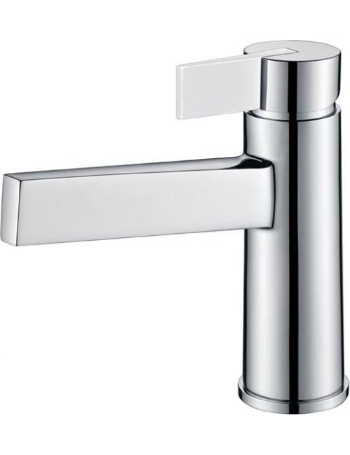 Mitigeur monocommande de lavabo blanc mate Elba