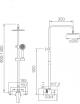 Barre de douche extensible d'acier inox Teide
