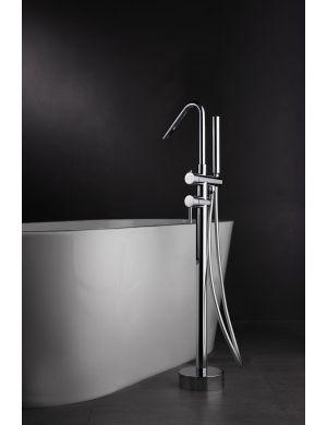 Robinetterie exemptée de baignoire en laiton chromé série Córcega