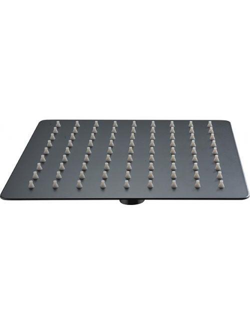 Pulvérisateur carré extra plat en acier inoxydable noir 25 cm