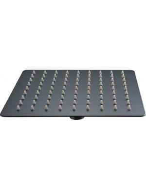 Pulvérisateur carré extra plat en acier inoxydable noir 30 cm